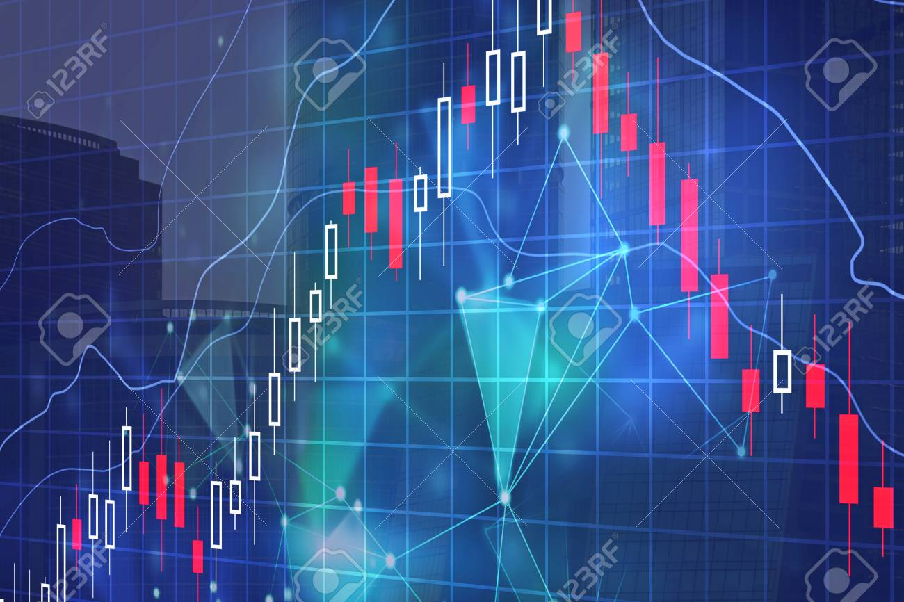 Forex Chart On Abstract City Background Investment Stock Trade 1300x866