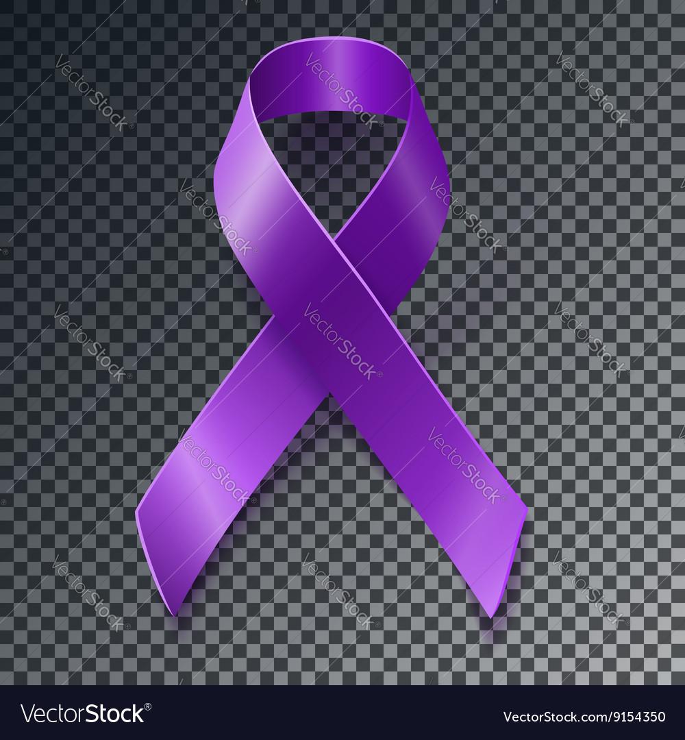 Purple awareness ribbon over geometric background Vector Image 1000x1080