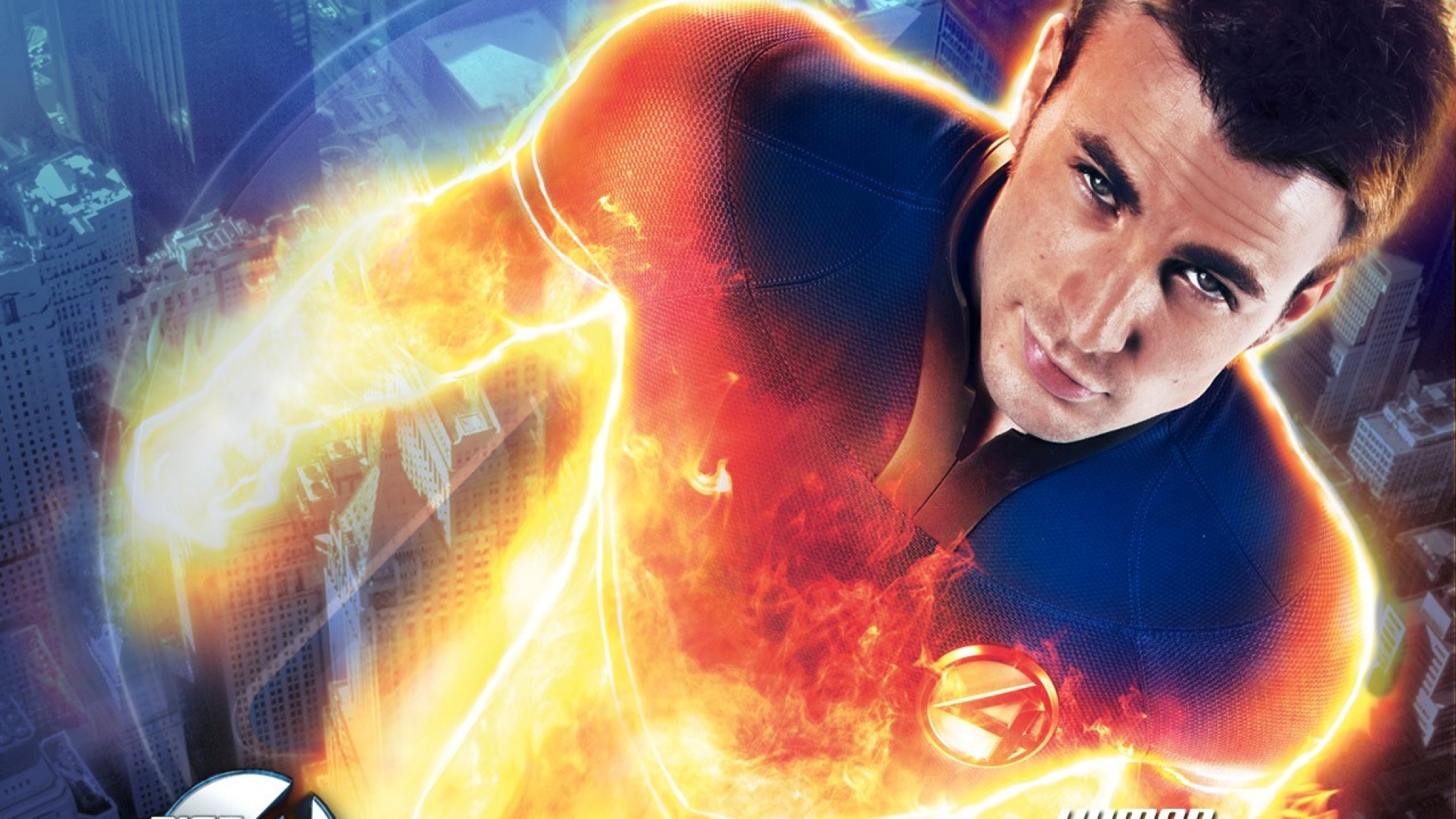 Download Wallpaper 2048x1152 fantastic 4 human torch johnny storm 2048x1152