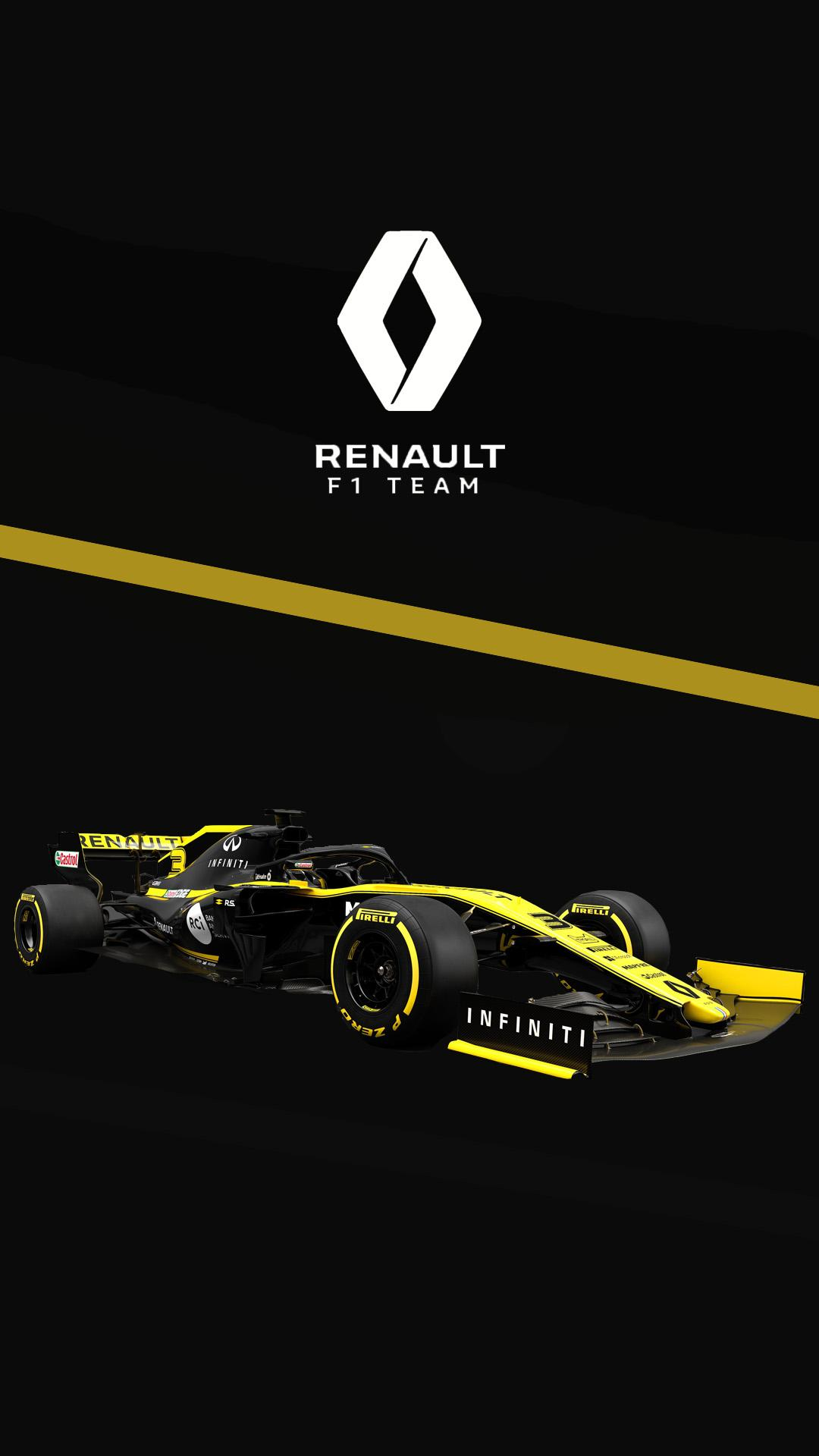Renault 2019 phone wallpaper I made formula1 1080x1920