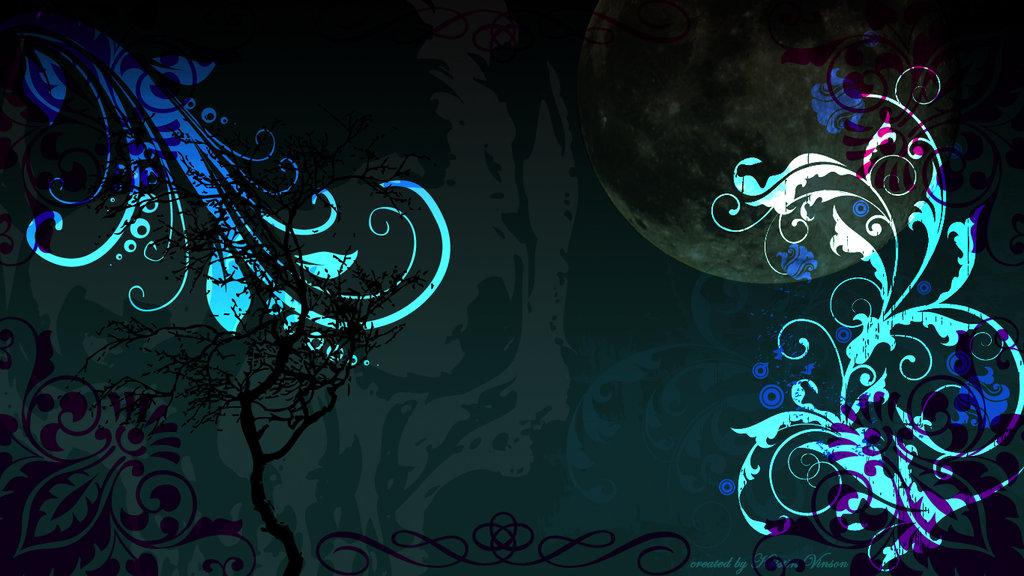 Gothic Background Wallpaper Teal gothic desktop background 1024x576
