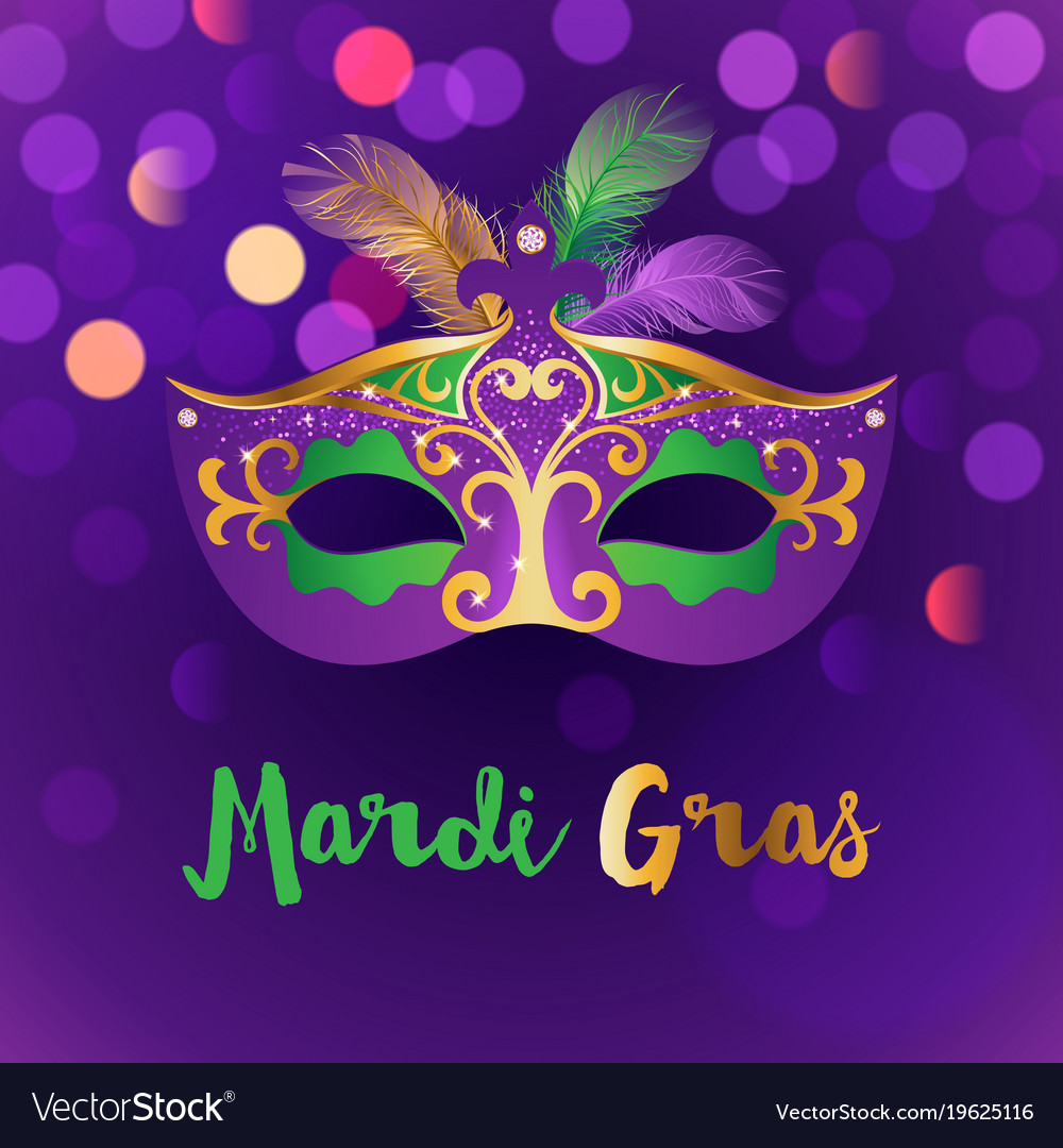 Bright mardi gras background Royalty Vector Image 1000x1080