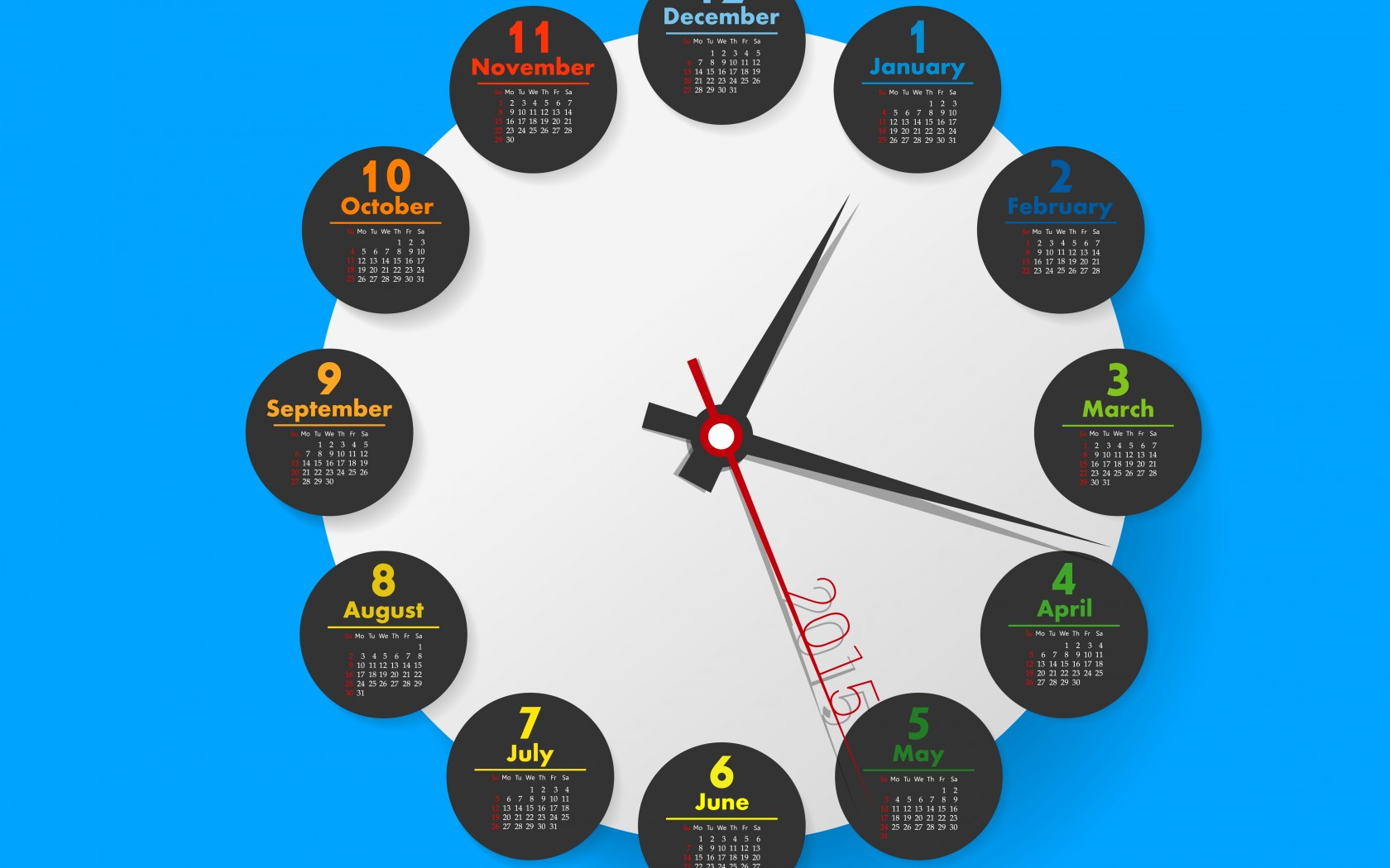 Calendar Wallpaper With Clock : Wallpaper with calendar and clock wallpapersafari