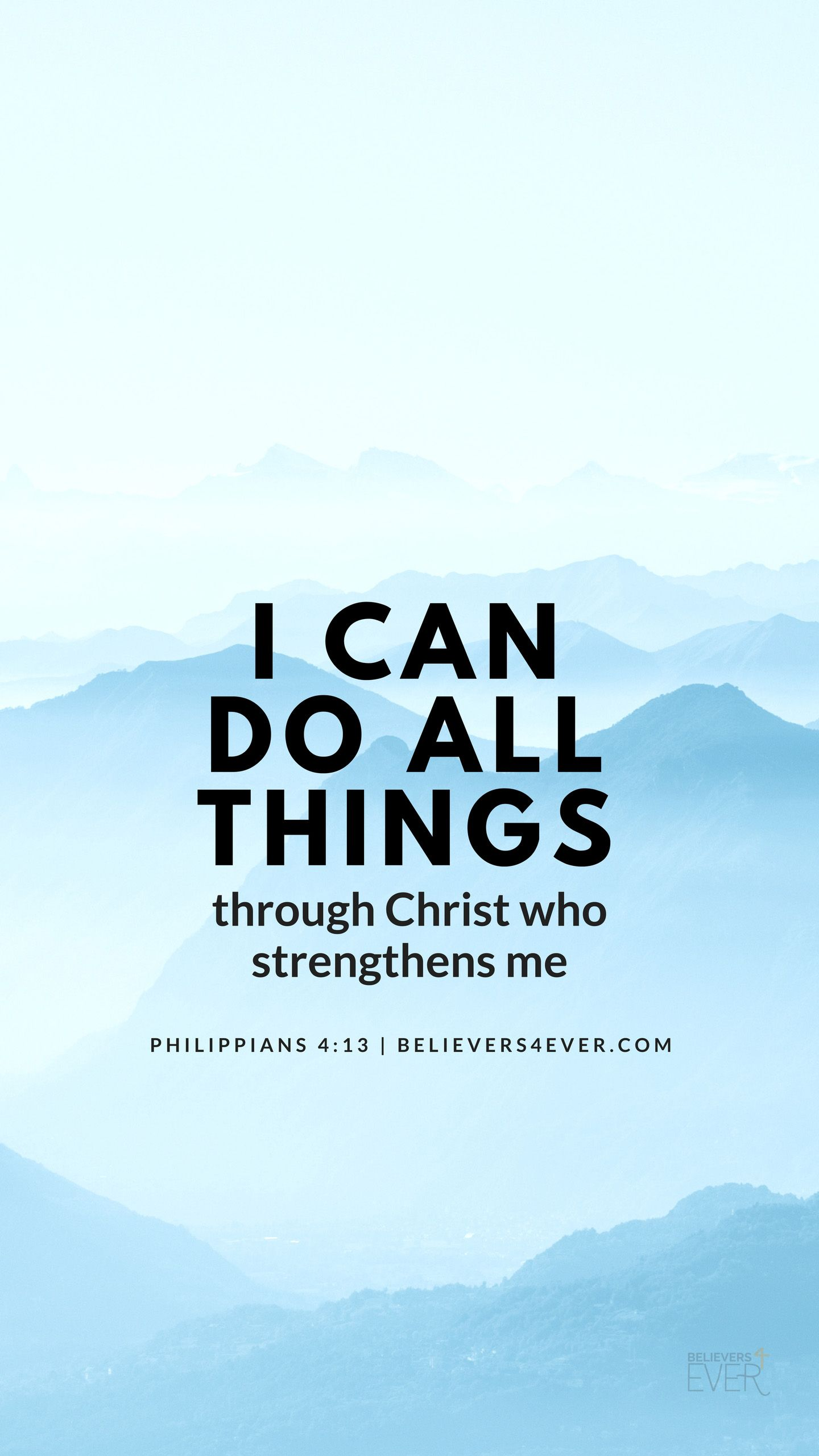 I can do all things JESUS Bible quotes Bible verse wallpaper 1440x2561