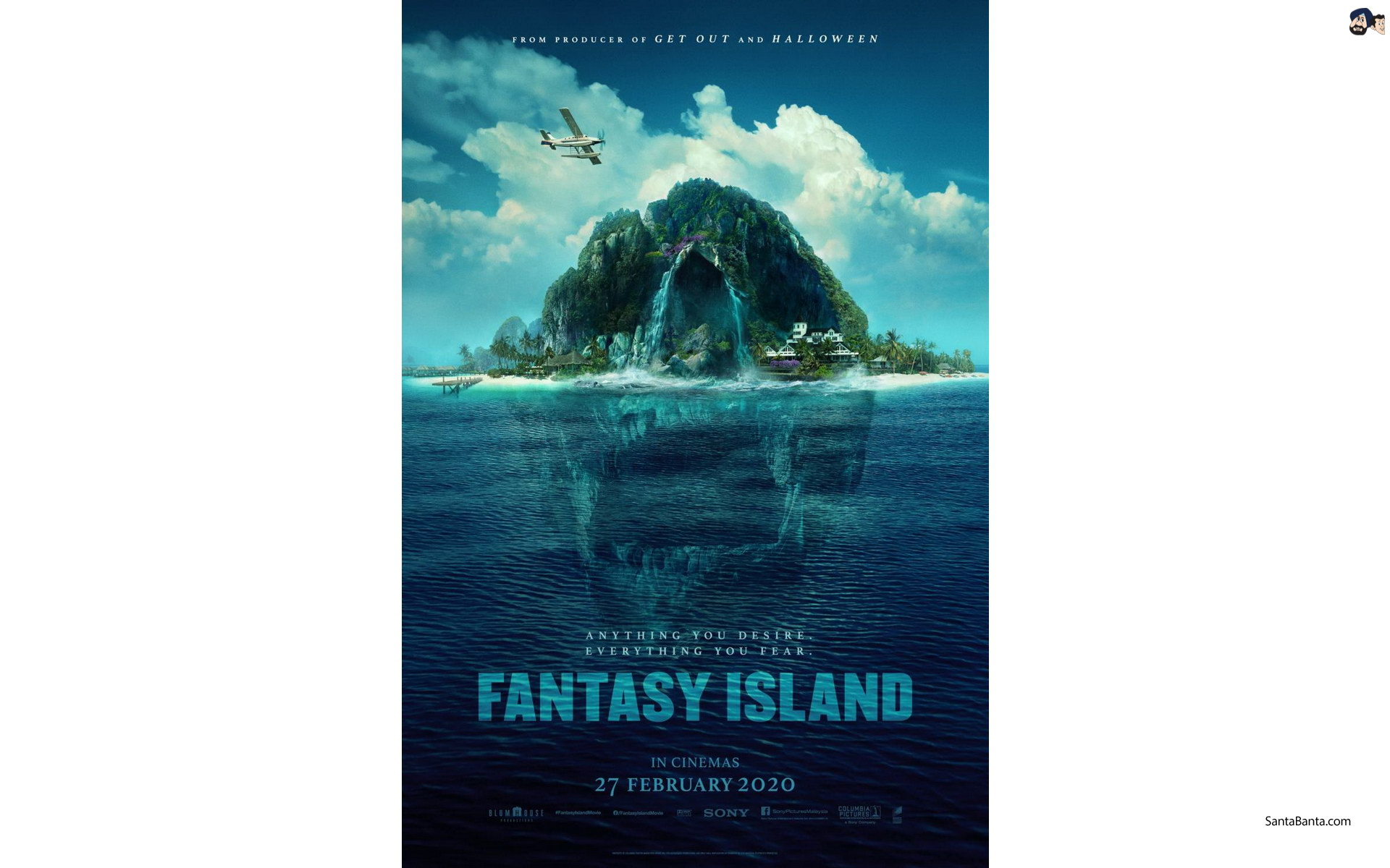 Official poster of Hollywood horror film `Fantasy Island 1920x1200