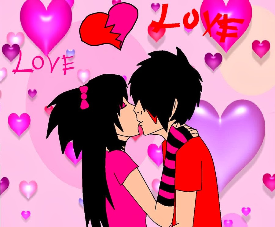 Emo Love Wallpaper - WallpaperSafari