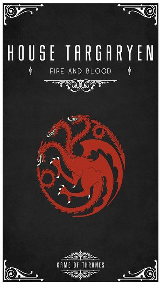 game of thrones wallpaper for iphone 5cGame Of Thrones House Targaryen 325x576