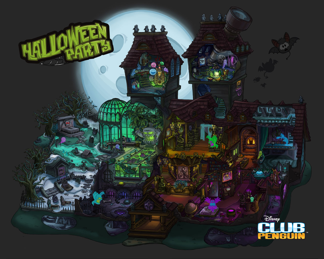 Haunted Mansion Club Penguin Wiki FANDOM powered by Wikia 1280x1024