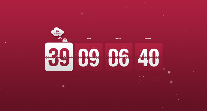 Christmas Clock Countdown Screensaver 820x440