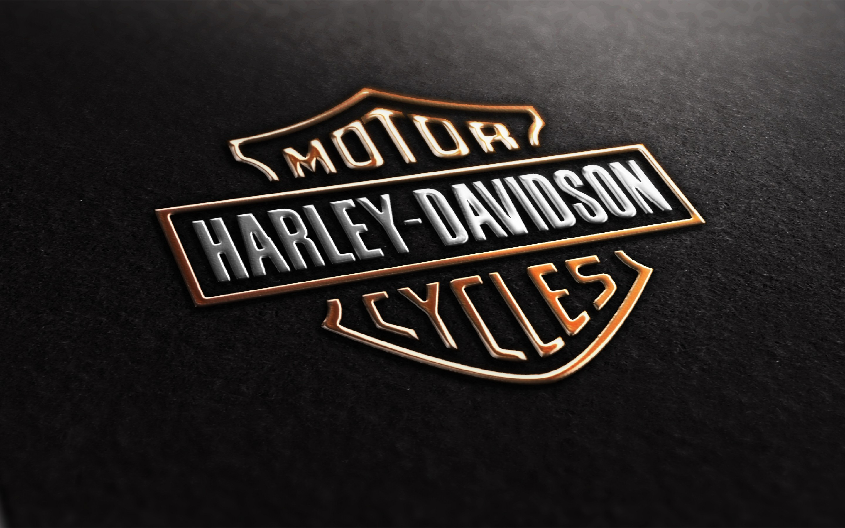Harley Davidson Logo Motorcycle Wallpaper Wide 10715 2880x1800