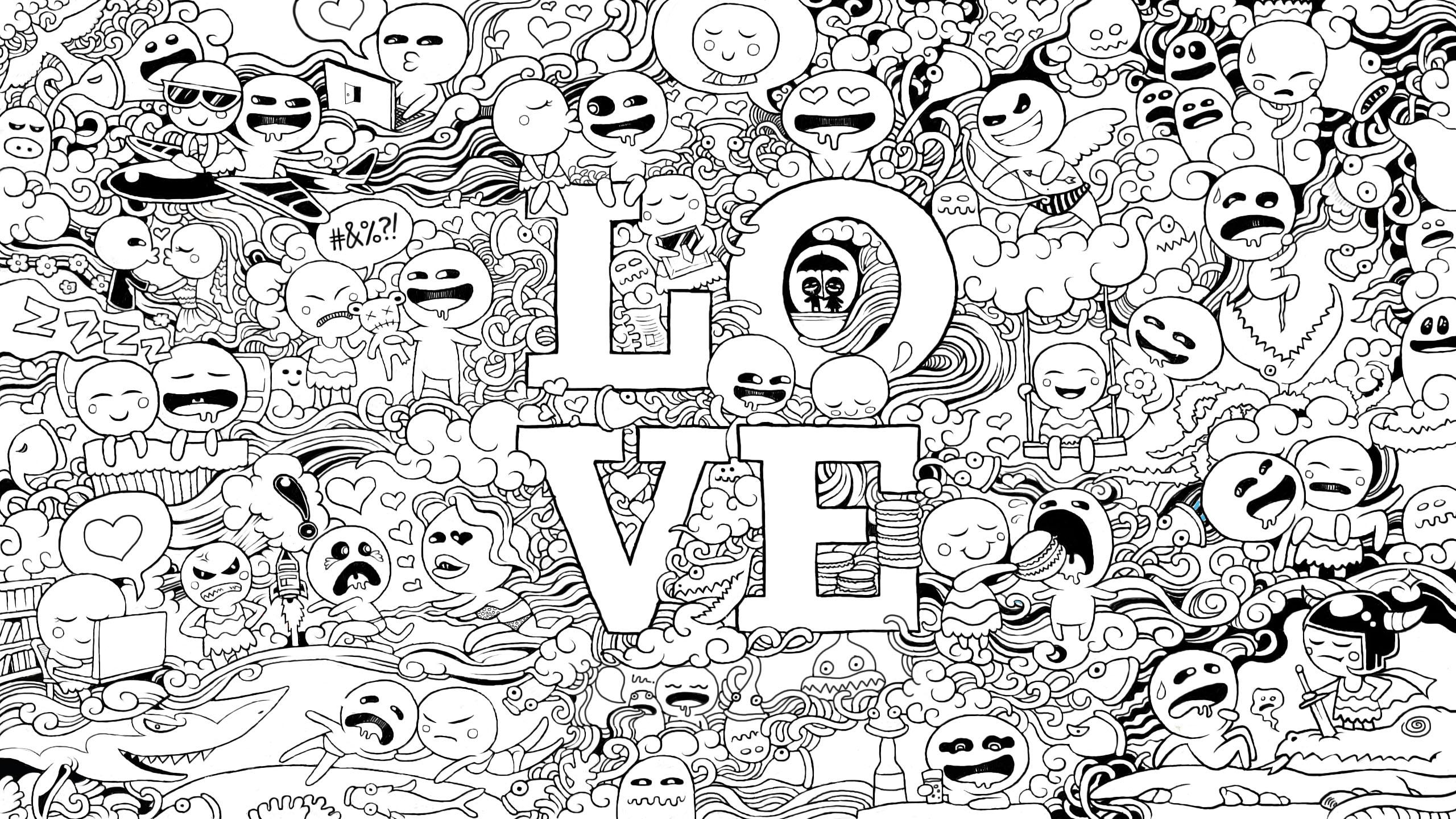 Cute Wallpaper Doodle WallpaperSafari