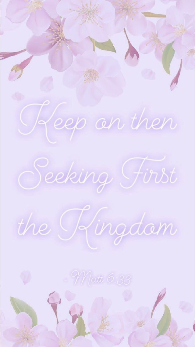JW phone background with scripture   Matthew 633 Pink and 640x1136