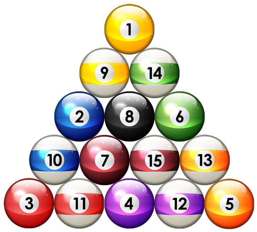 15 Pool Ball Billiards Sports Bar Wall Safe Sticker Character Border 876x791