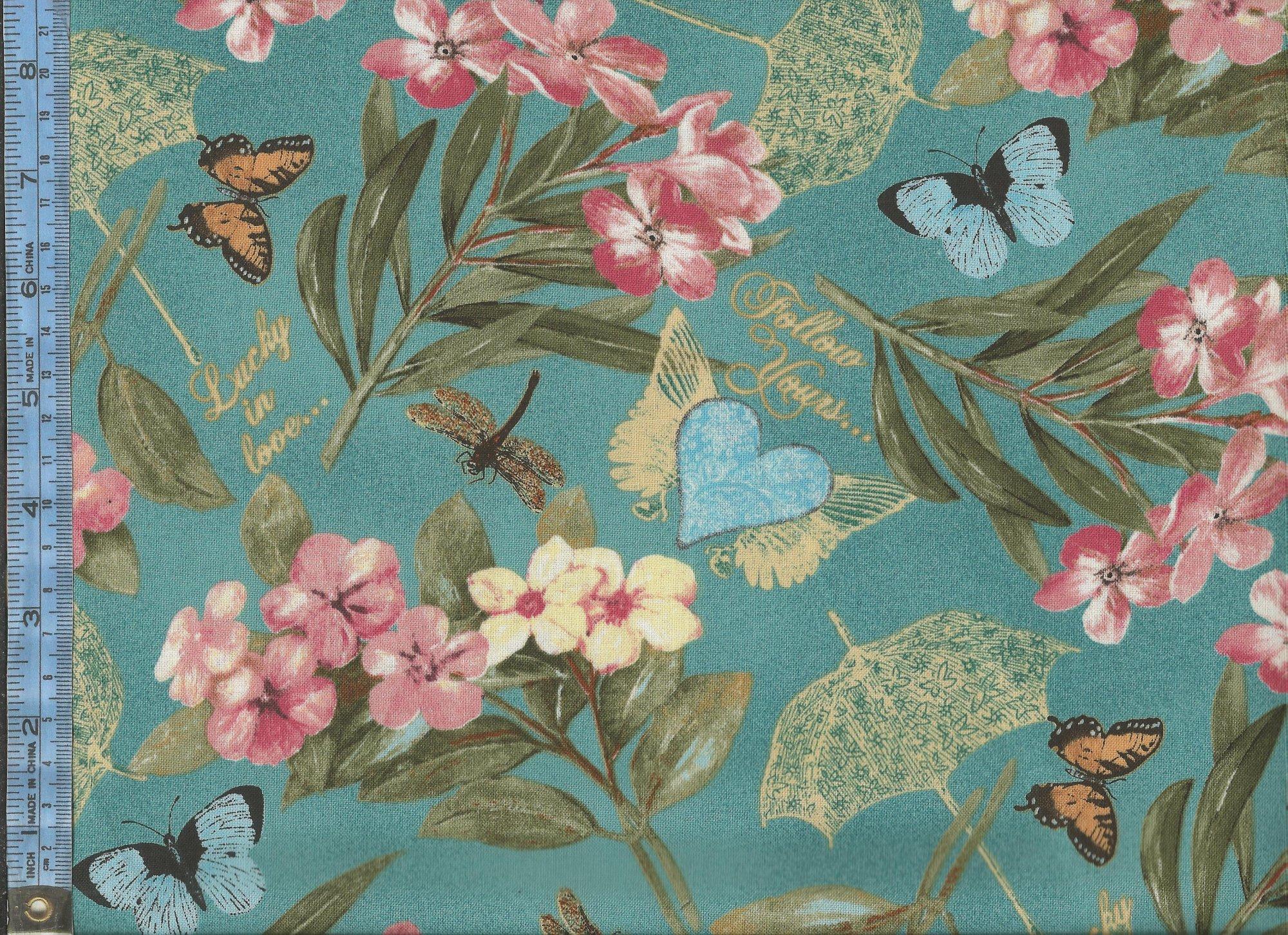 Garden Hideaway   14601 1401 pink flowers with light blue 2000x1452