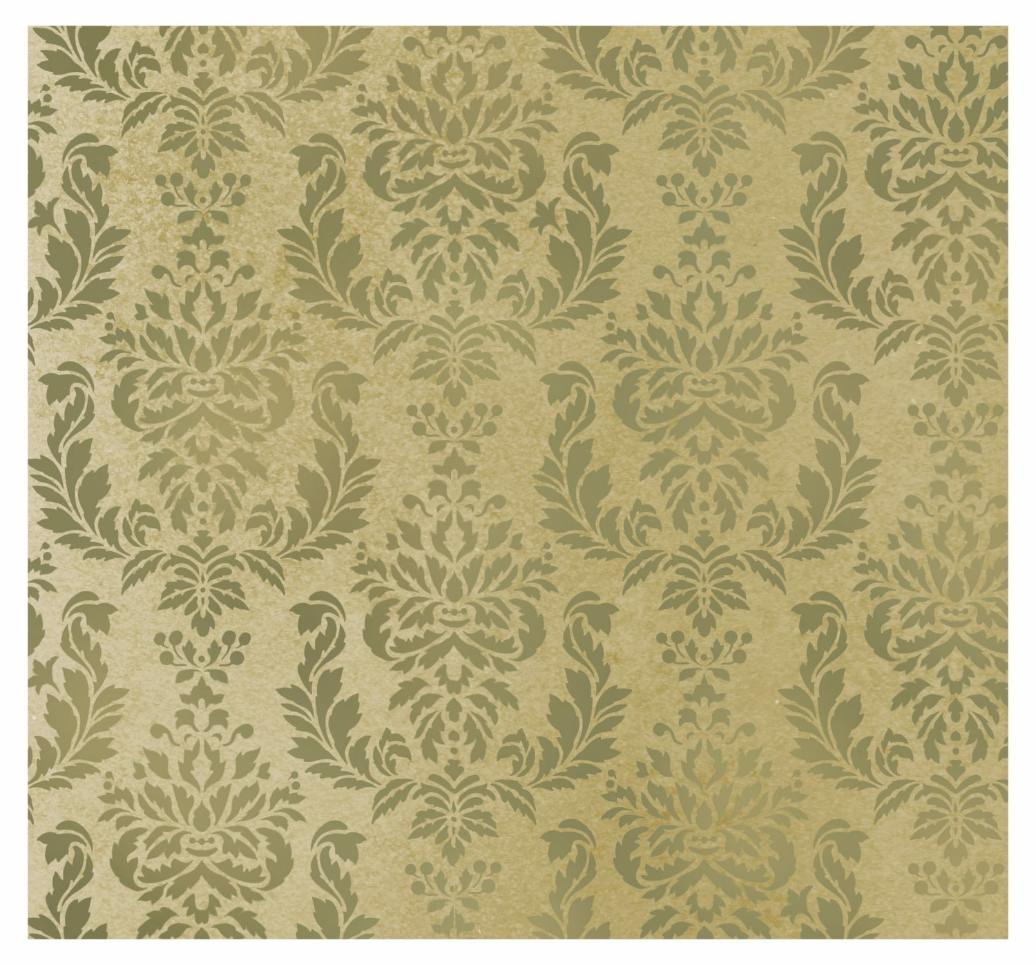 Wall Stencil Damask Verde 24x30 Brocade by CuttingEdgeStencils 1500x1397