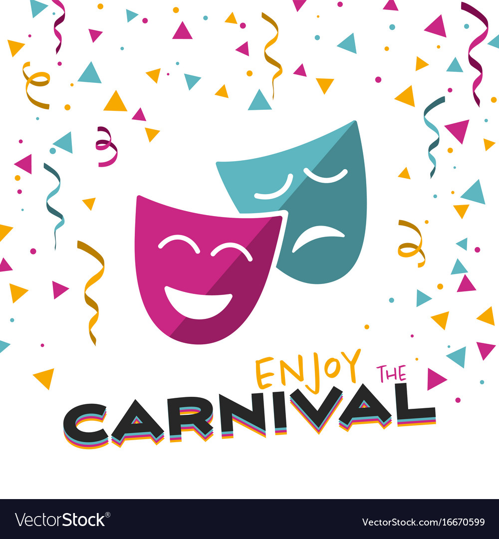 Enjoy the carnival on a white background Vector Image 1000x1080