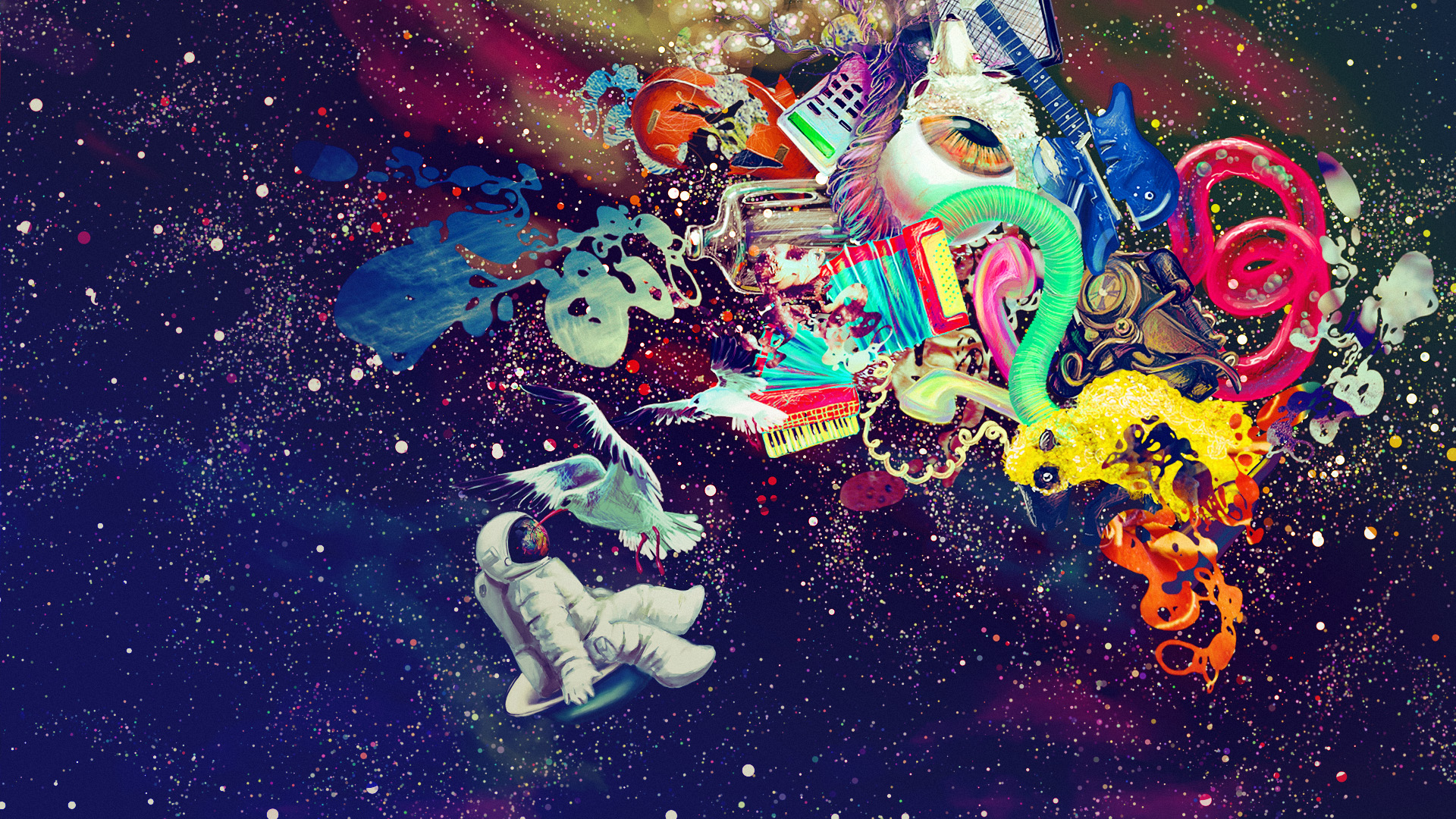 psychedelic space Desktop and mobile wallpaper Wallippo 1920x1080