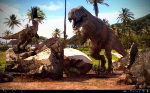 3D   Dinosaurs 3D Pro lwp v10 500x310