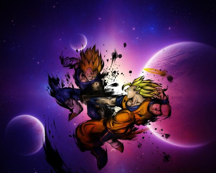 Goku vs Vegeta Iphone Wallpaper Goku vs Vegeta Space Wallpaper 736x588