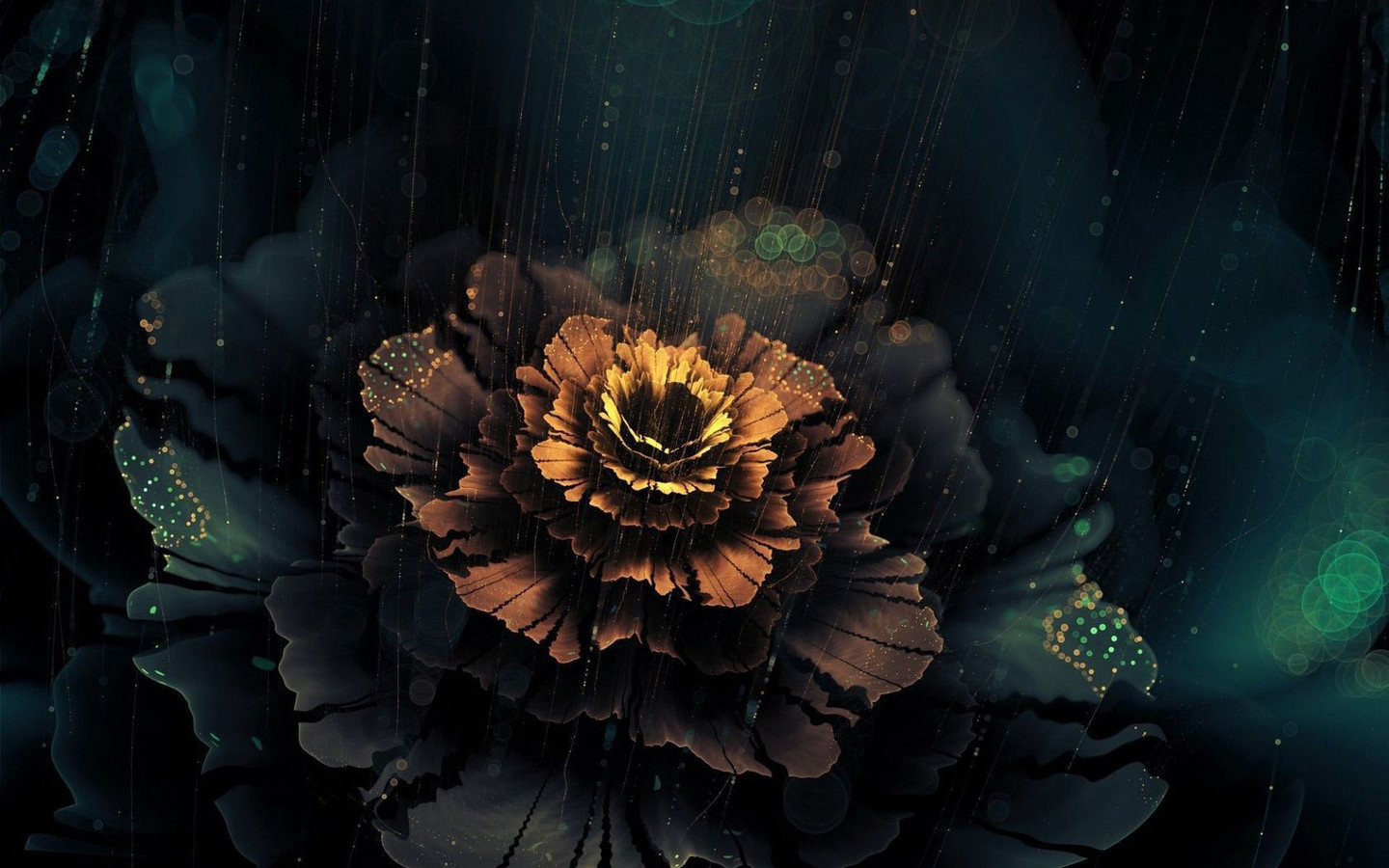 Beautiful abstract flower   Dark wallpaper 1440x900