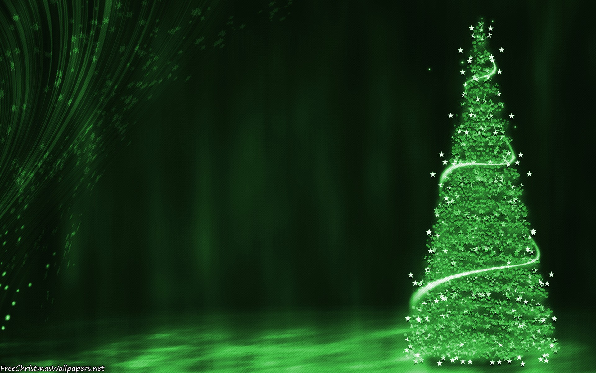 Download Green Christmas Tree Background Wallpaper   Green 1920x1200