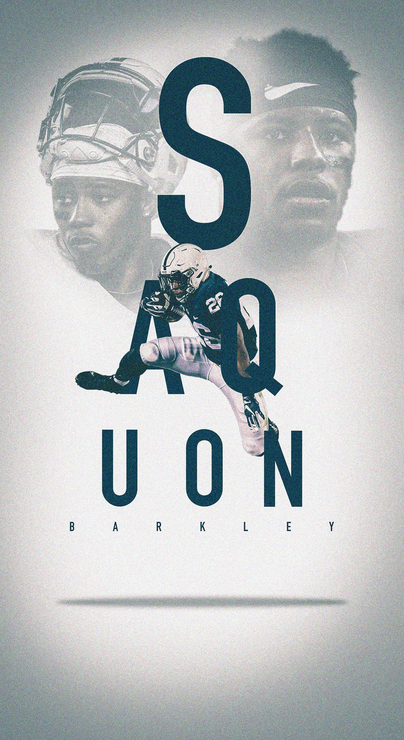 Saquon Barkley iOS Wallpaper on Behance Nfl football wallpaper 1400x2562