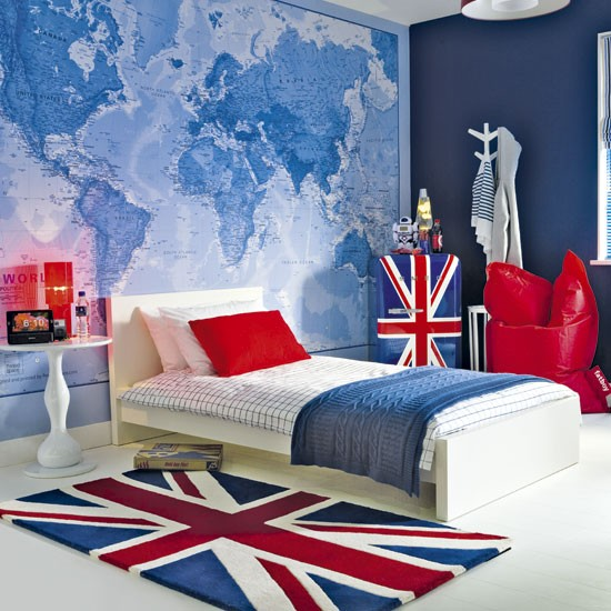 British themed boys bedroom Boys bedroom ideas Childrens 550x550