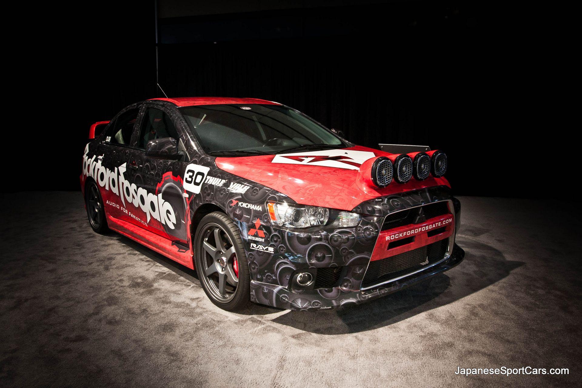 Mitsubishi EVO Rockford Fosgate Rally Edition at 2012 Los Angeles Auto 1920x1281