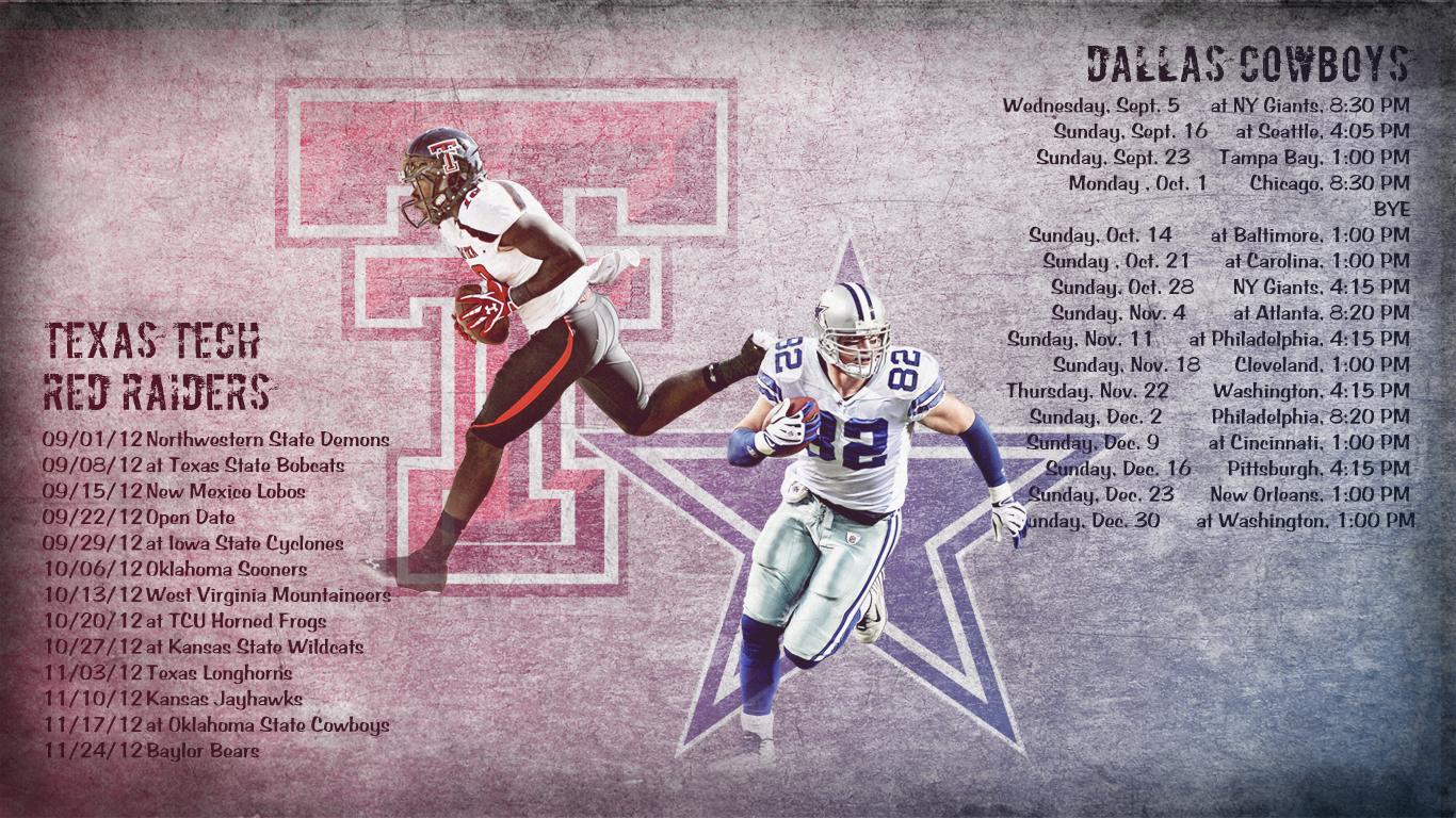 Tech Tech Dallas Cowboys 2012 Schedule Wallpaper Relay Wallpaper 1366x768