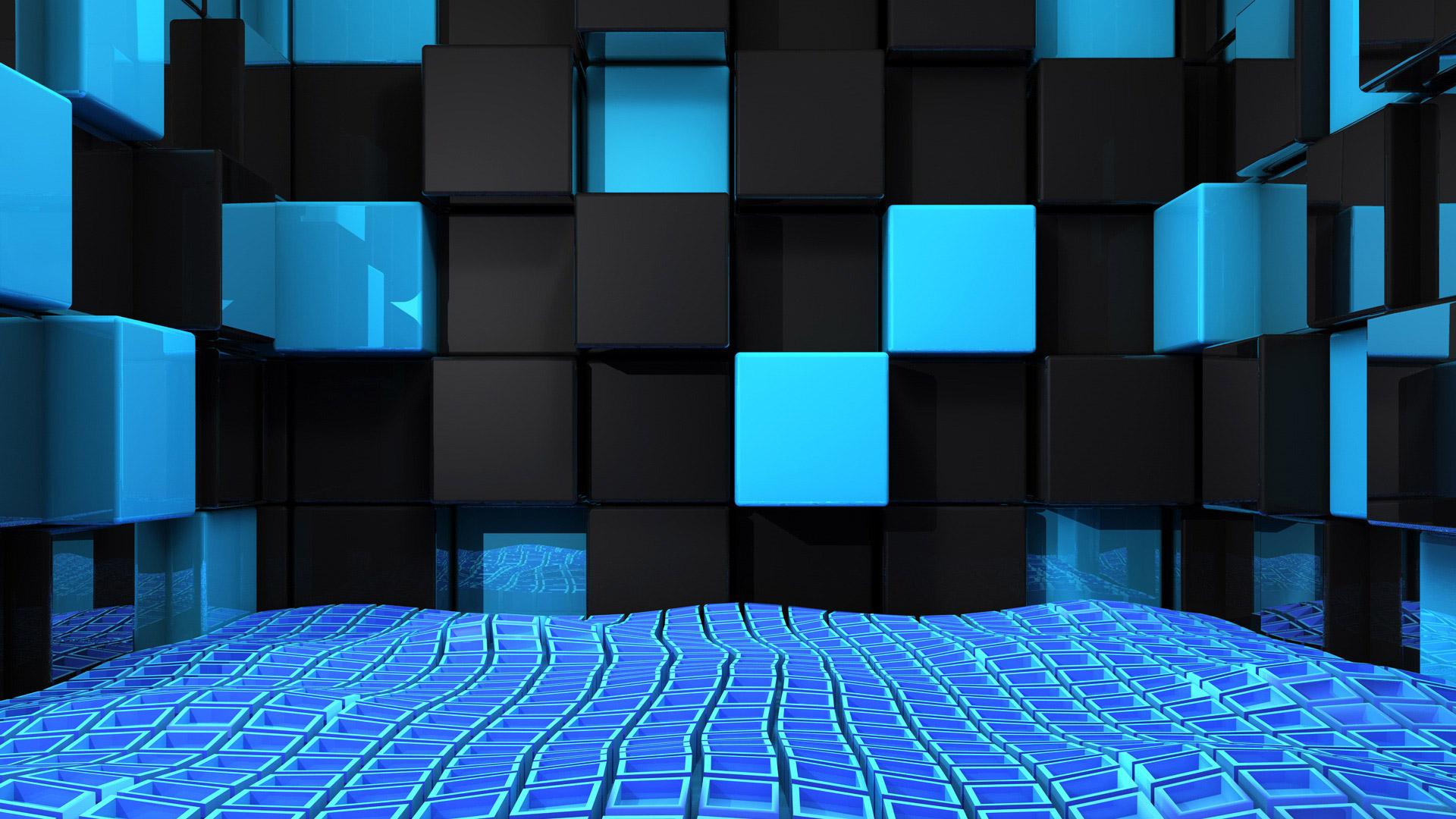 hd wallpaper 3d cubes abstract backgrounds wallpapers55com 1920x1080