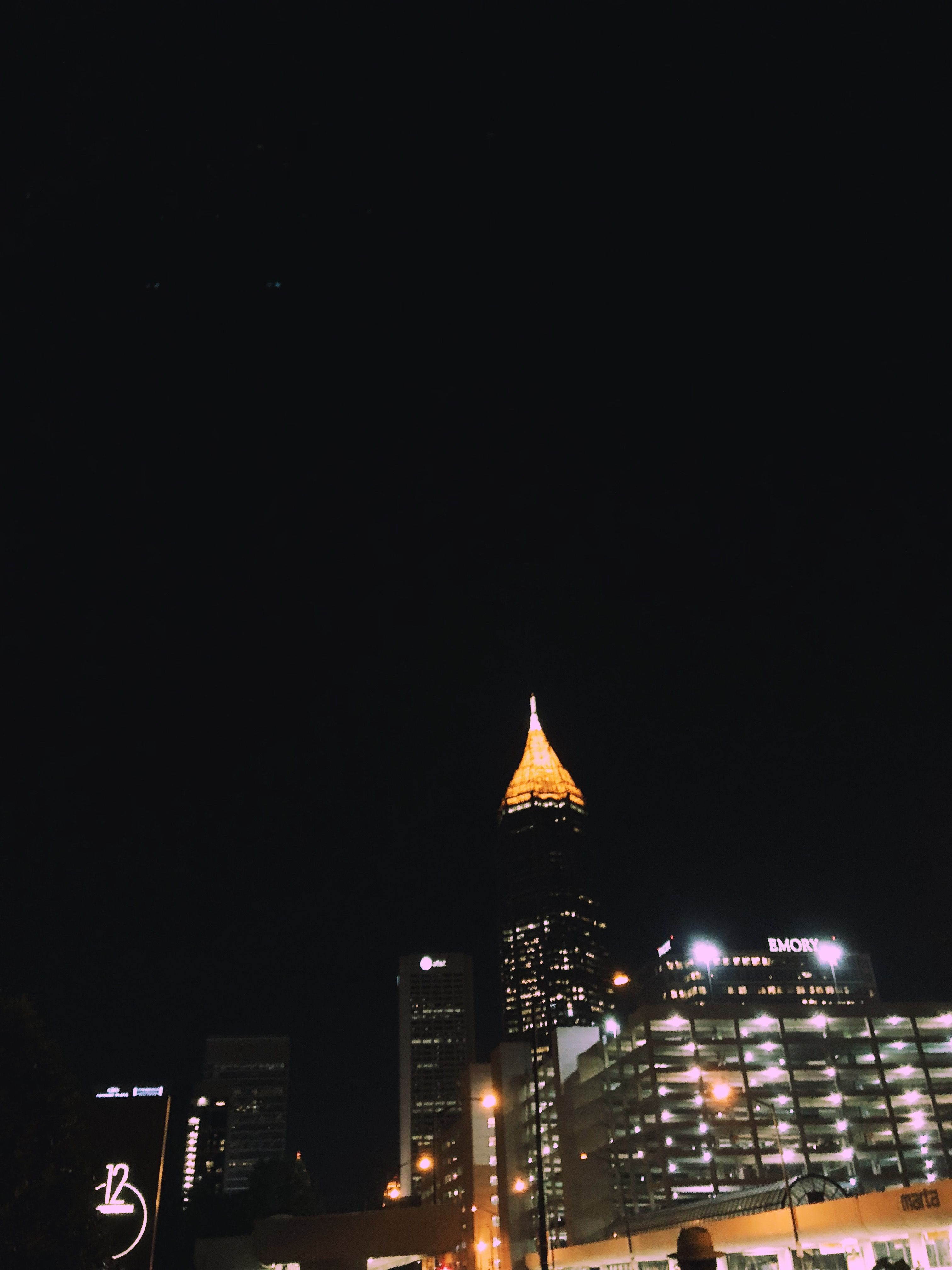 background photography Atlanta Georgia wallpaper light up at night 3024x4032