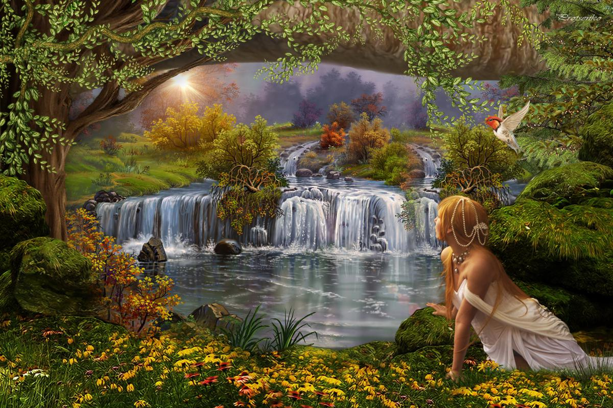 Fairy garden desktop wallpaper wallpapersafari for Quality wallpaper for home
