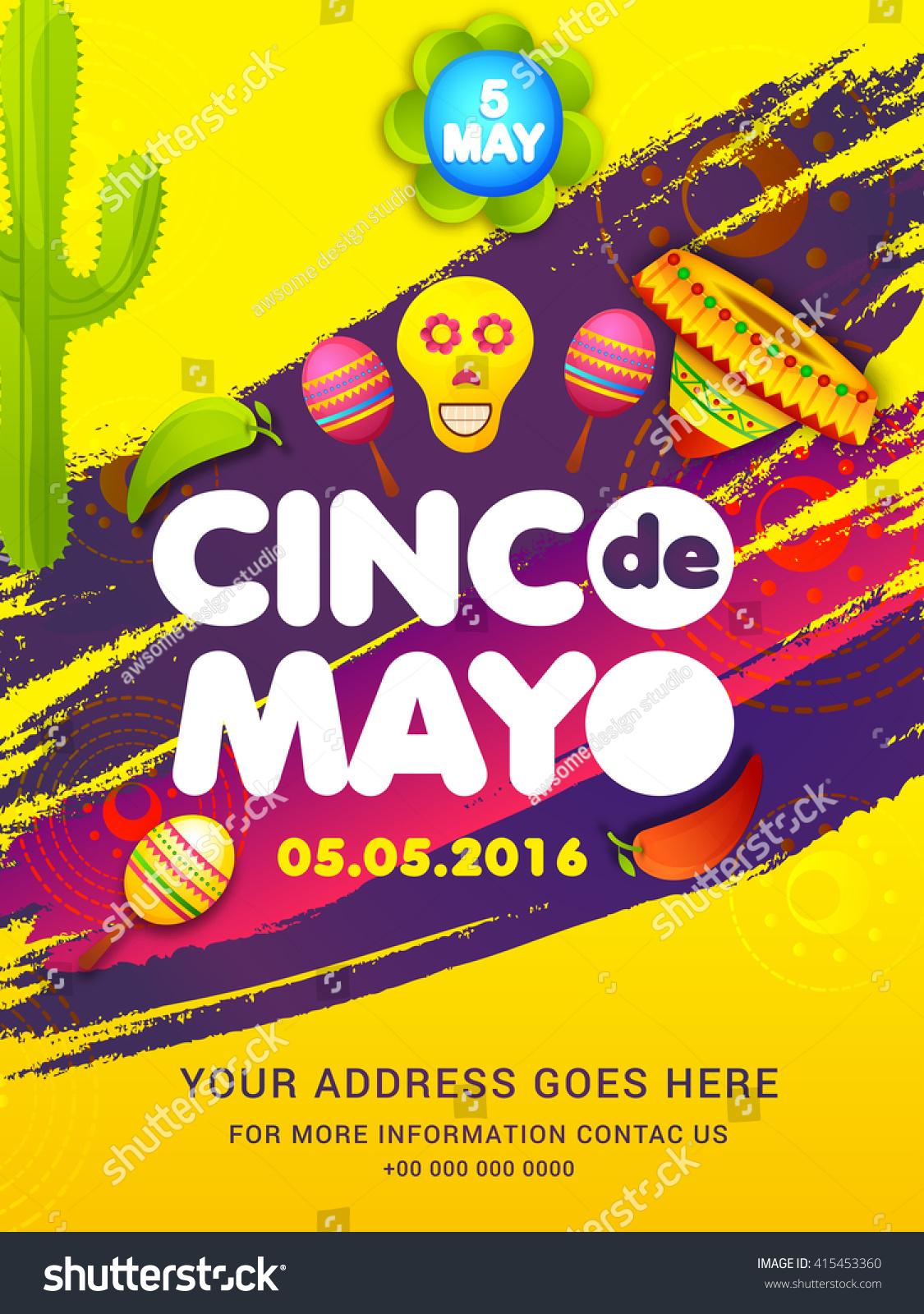 Poster Party Flyer Cinco De Mayo Stock Vector 415453360 1125x1600