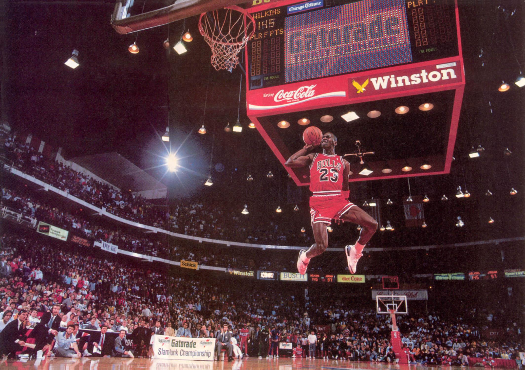 62 Michael Jordan Dunk Wallpaper On Wallpapersafari