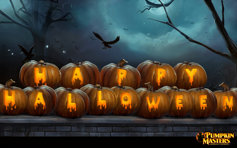 free halloween wallpaper happy halloween pumpkins 1440x900jpg 1440x900