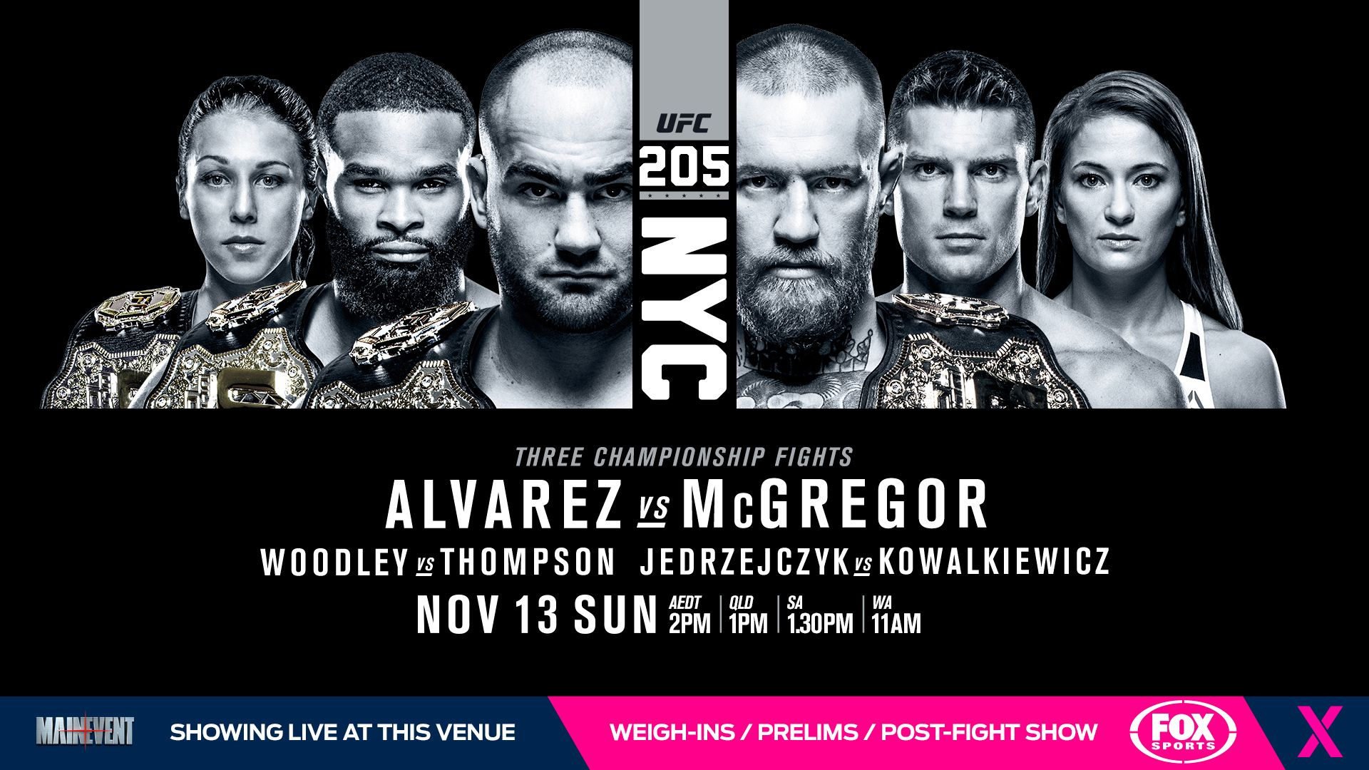 Wallpaper for UFC 205 MMA Wallpapers UFC Movie posters Venus 1920x1080