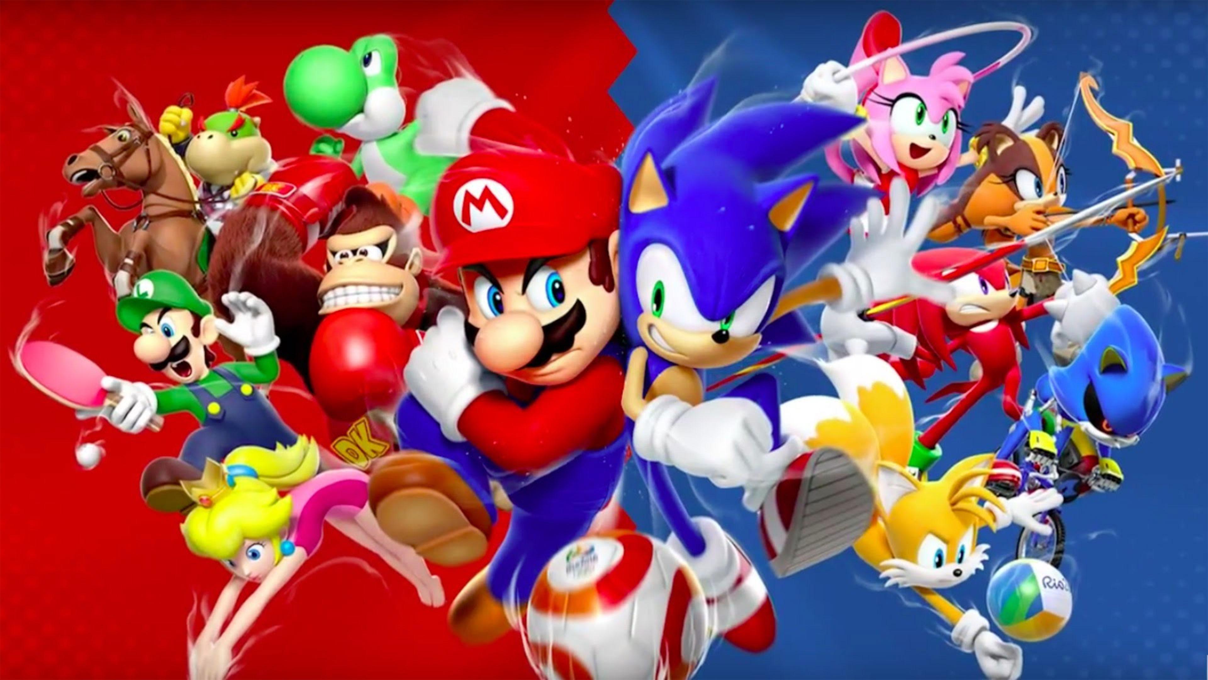 Mario And Sonic Wallpaper Wallpapersafari HD Wallpapers Download Free Images Wallpaper [1000image.com]