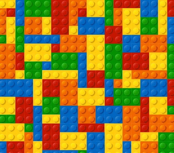 Colored Lego Background Vector   TitanUI 553x489