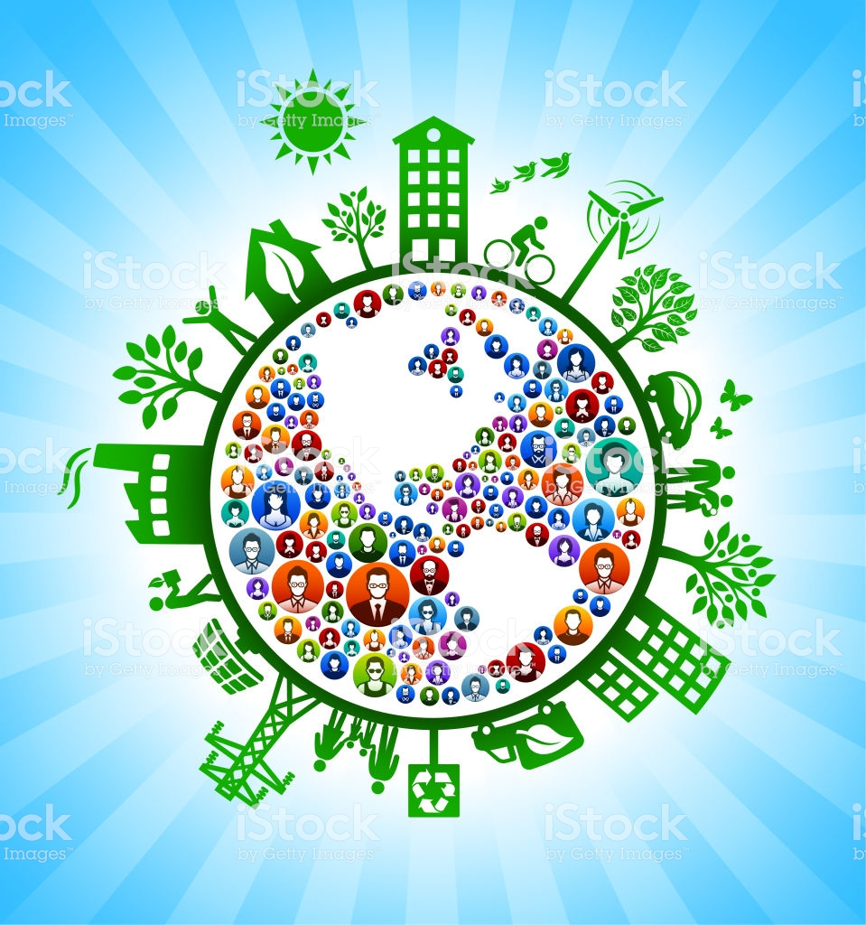 Planet Earth People Green Environmental Conservation Background 959x1024
