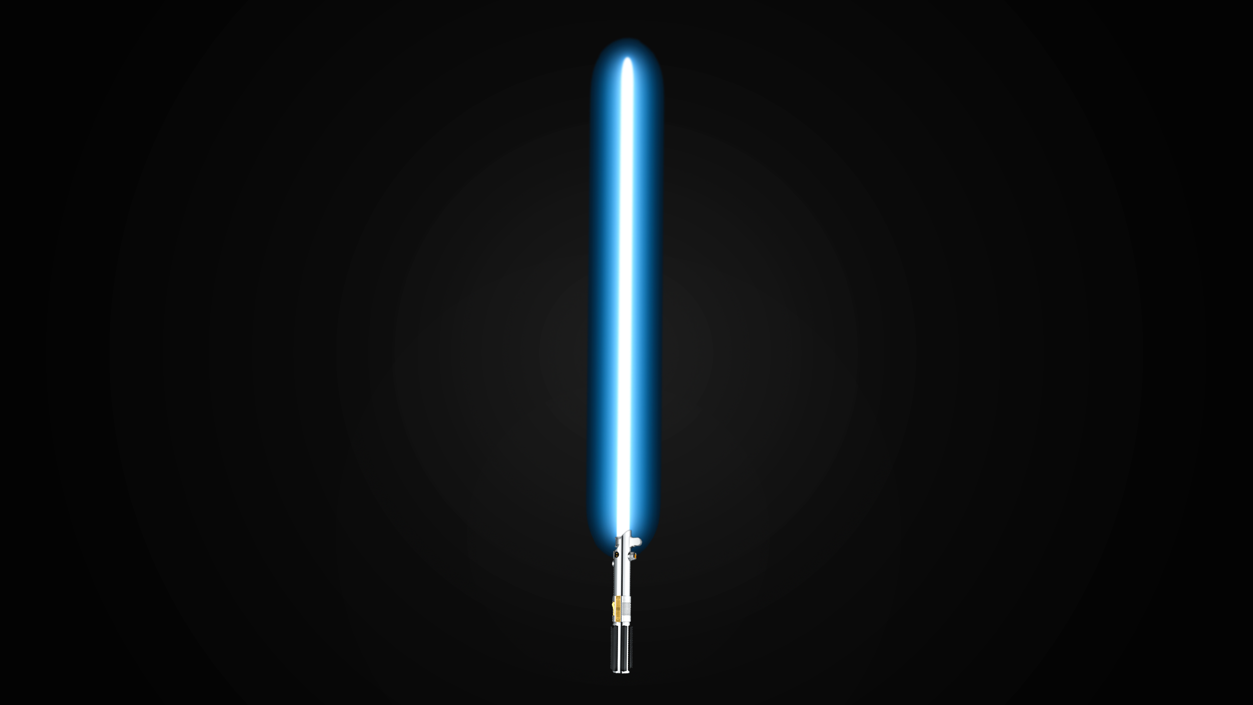 this is a simple but elegant wallpaper with the single lightsaber in 2560x1440