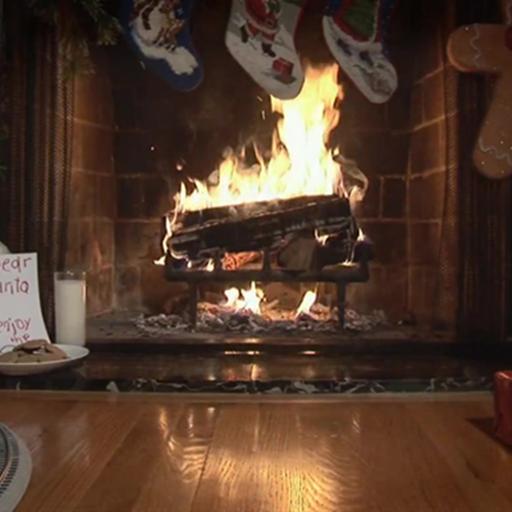 Christmas Fireplace Live WallpaperA Christmas Fireplace Live Wallpaper 512x512