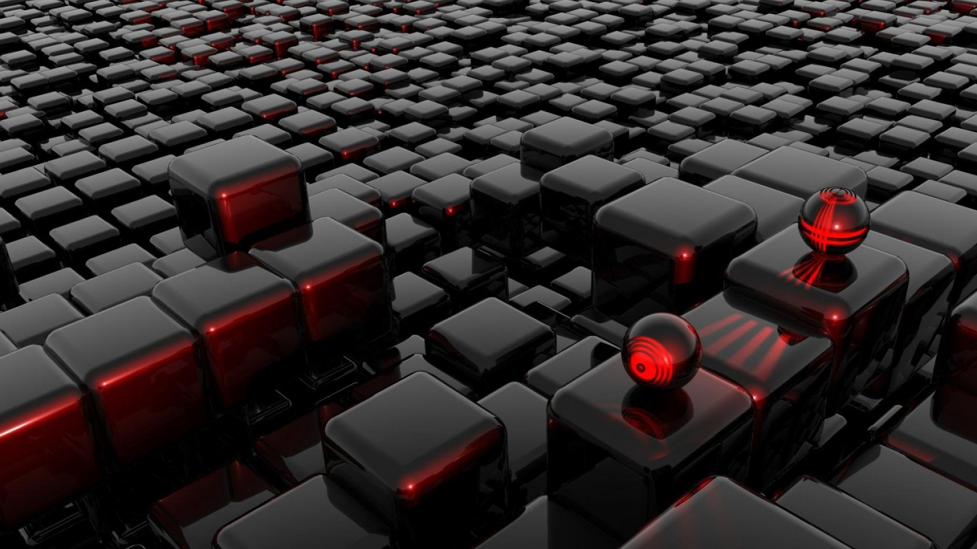 Black and Red Abstract High Resolution Wallpaper 419 1920x1080