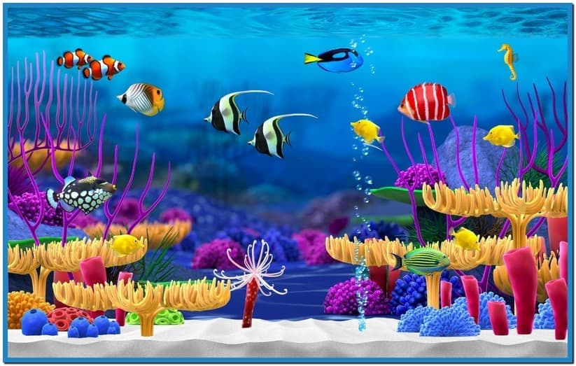 Animated fish tank screensaver mac Download 823x523