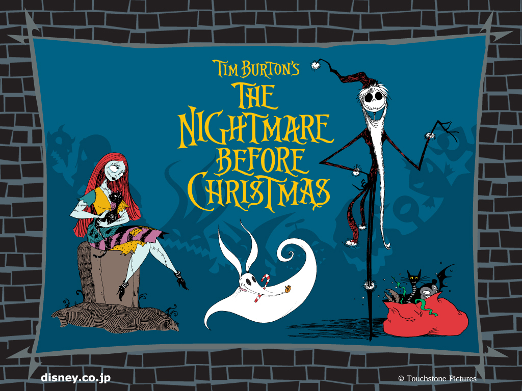 Nightmare Before Christmas Wallpaper Tim Burton Movie Desktop 1024x768