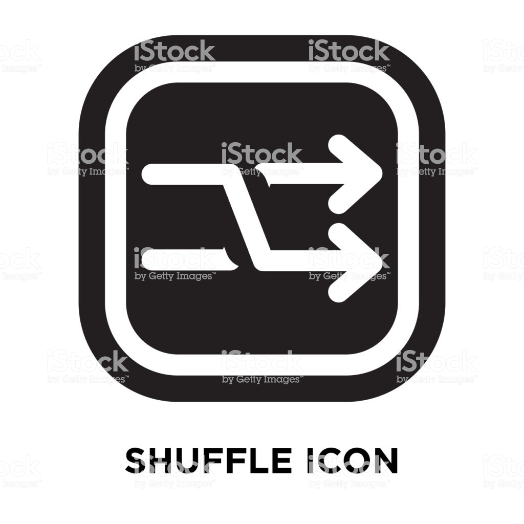 Shuffle Icon Vector Isolated On White Background Logo Concept Of 1024x1024