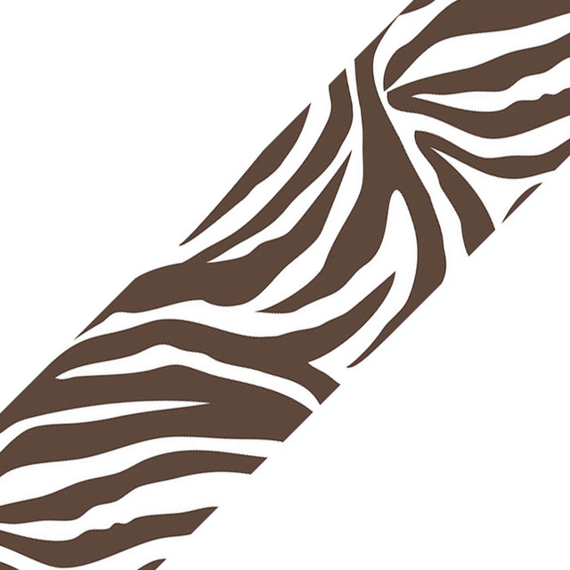 Brown Zebra Print Wall Border   Contemporary   Wallpaper   by oBedding 640x640