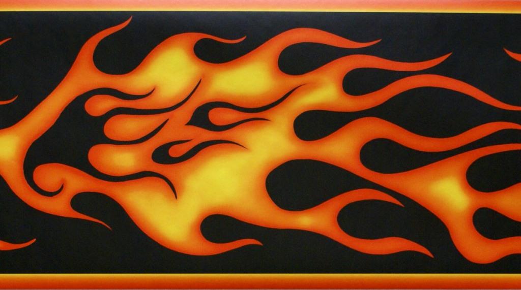 HARLEY DAVIDSON FLAMES WALLPAPER BORDER   21B10   FDB0092 1024x571