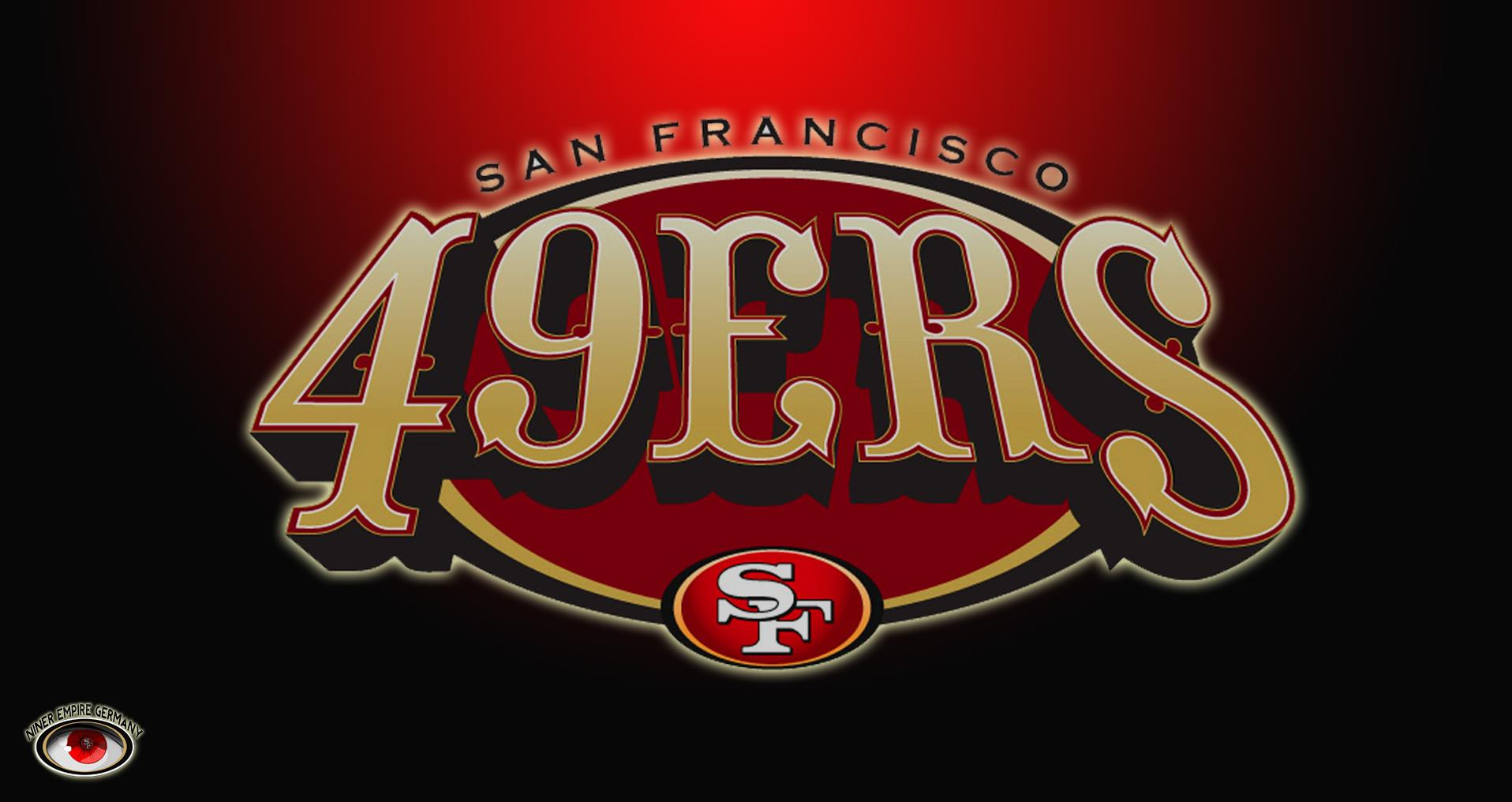 San Francisco 49ers 3d wallpaper logo 1916x1016