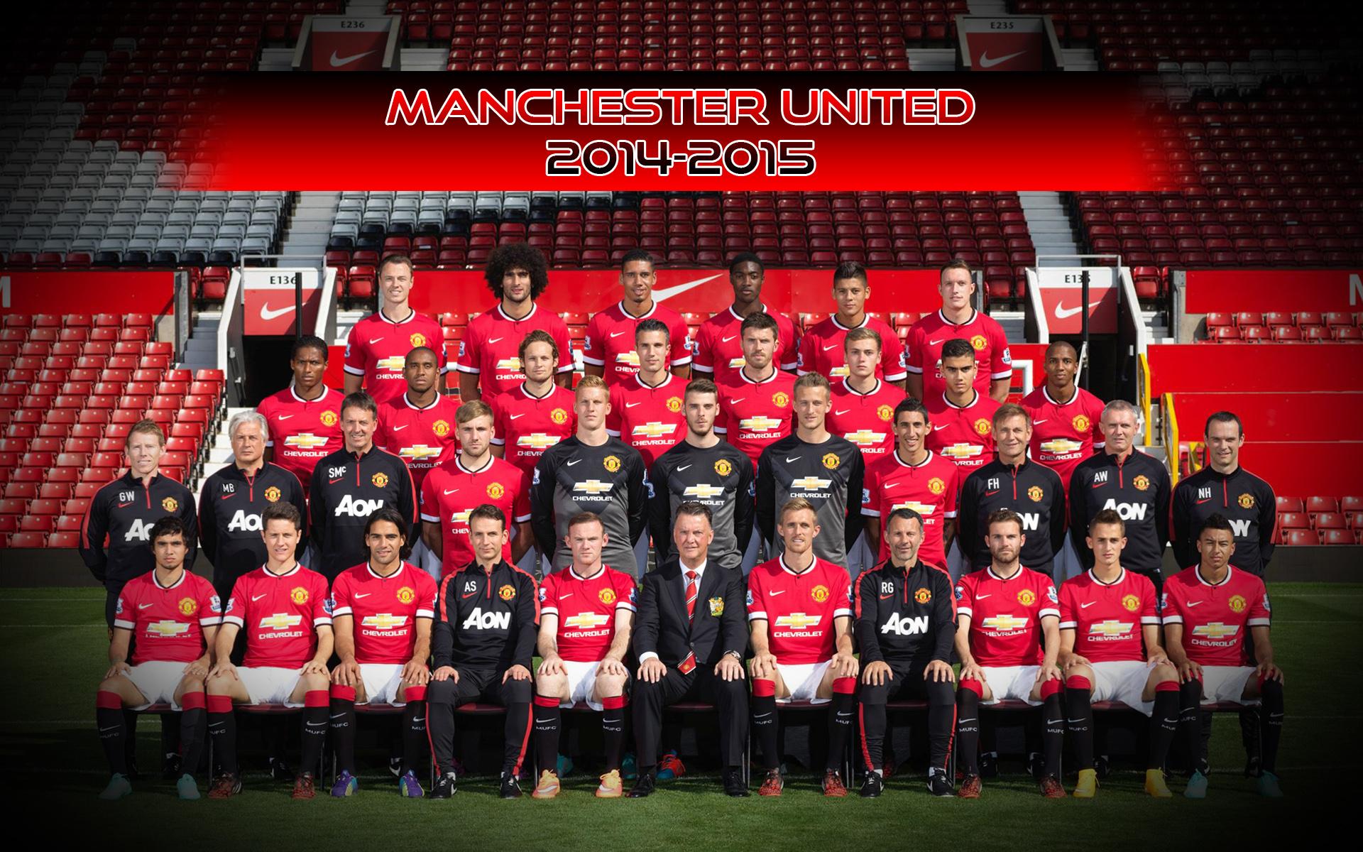 Manchester United 2014 2015 Squad Photo Wallpaper 1920x1200