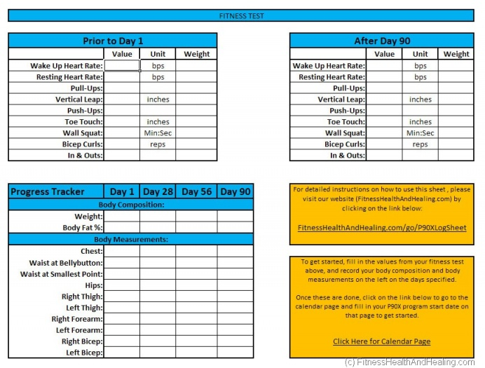 Free download p90x workout schedule exercise pdf P90X